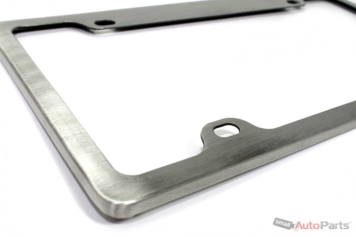 new brushed aluminum license plate frame