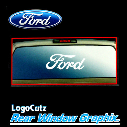 Big Ford Logo White Vinyl Decal Emblem Graphic Sticker For Car - Truck rear window decals