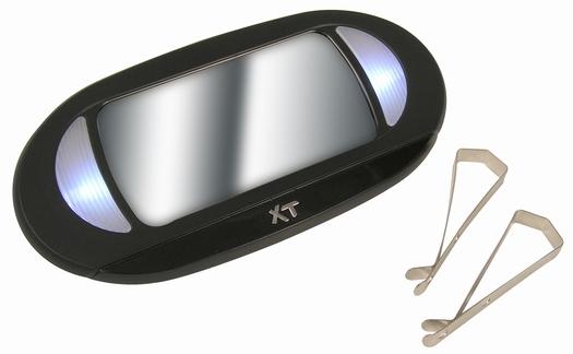Lighted car sun visor vanity mirror with led light ebay for Mirror visor