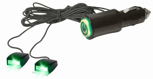 12v cigarette lighter plug green led accent light beams for auto car interior ebay. Black Bedroom Furniture Sets. Home Design Ideas