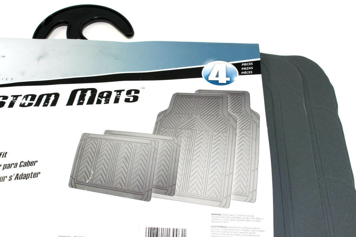 4 Cut To Fit Gray All Weather Rubber Interior Floor Mats