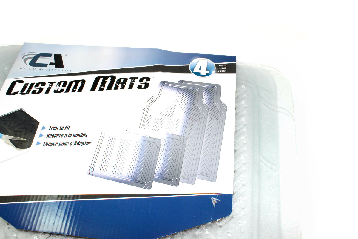 4 Cut To Fit Clear All Weather Rubber Interior Floor Mats