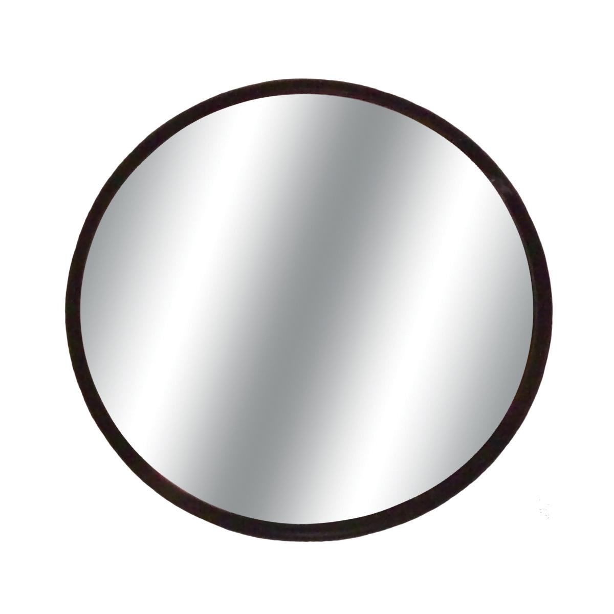 Round 3 75 Convex Glass W Stick On Mount Black Blind