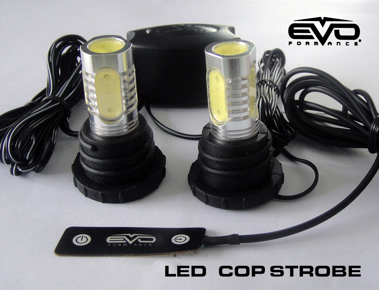 Evo Formance Universal Led Cop Strobe Light Headlight Kit